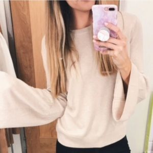 Leith bell sleeve beige sweater